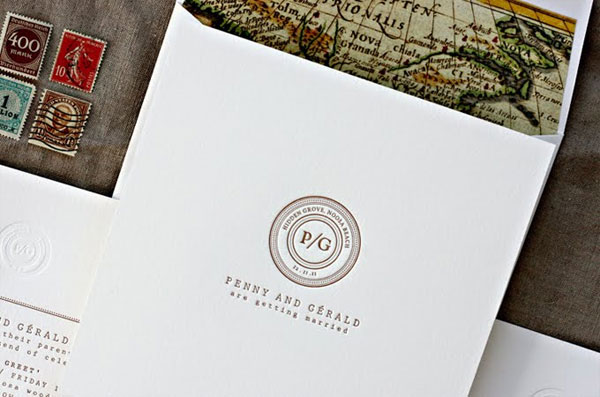 Postmark Style Monogram