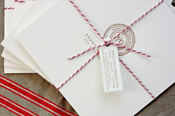 Letterpress Luggage Style Tag