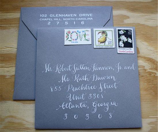 Yellow Grey Letterpress Wedding Invitations Invitation Crush