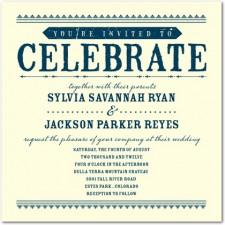 Come Celebrate Letterpress Invitations