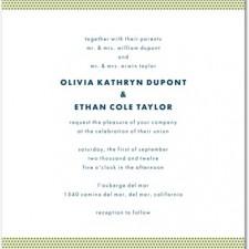 Dashing Dotted Letterpress Invites