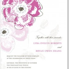 Floral Reflection Wedding Invitation