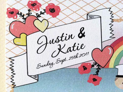Justin + Katie Wedding Invitations
