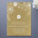 Floral Wedding Invitations : Knobbly Blooms