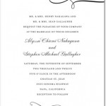 Luxe Lines Thermography Invitation