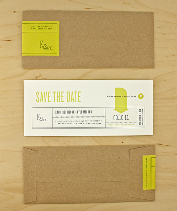 Mid Century Modern Save the Date