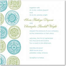 Pastoral Medallions Wedding Invitation