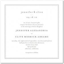 Pure Style Wedding Invitation