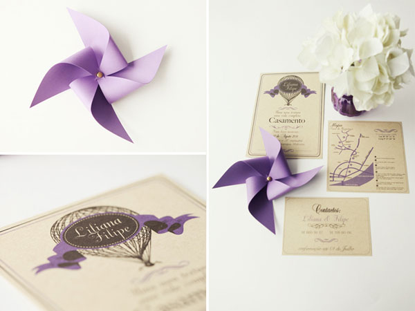 Purple Pinwheel Wedding