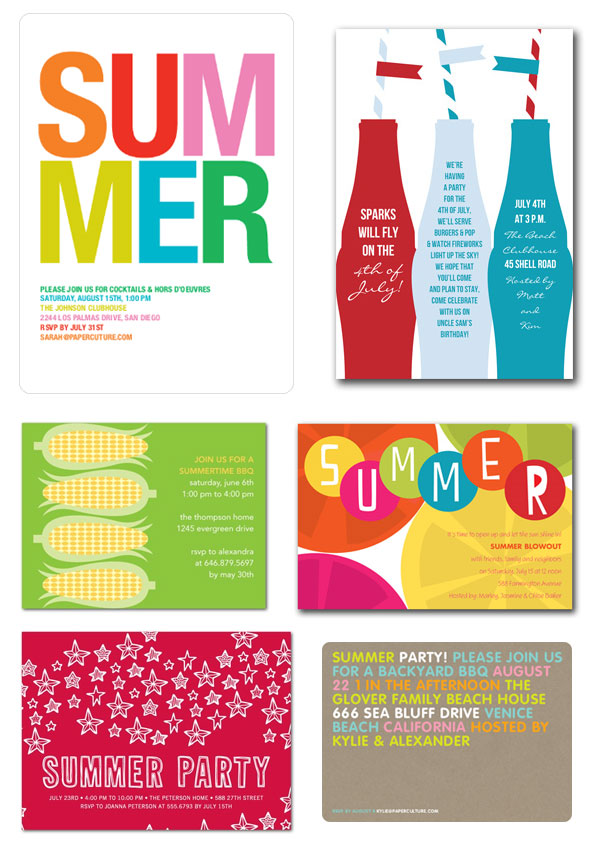 summer party invitations invitation crush
