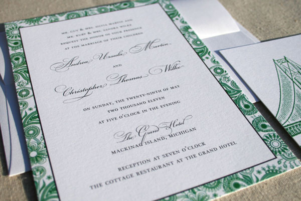 Nathalie Carrigan Custom Invitation Design