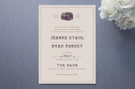 barn wedding invitations, Wedding invitations