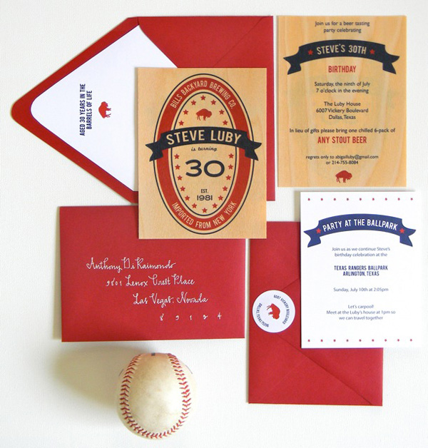 Beer Themed 30th Birthday Party Invitations