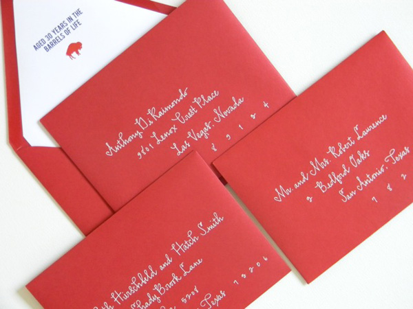 Custom Calligraphed Envelopes