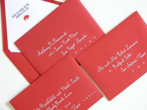 Custom Calligraphed Envelopes