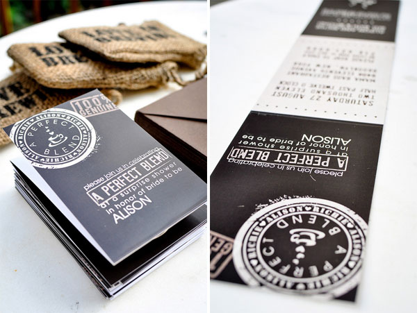 Coffee Themed Invitations