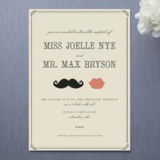 Stache + Kiss Wedding Invitations