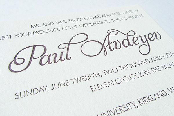 Ilona Paul Wedding Invitations