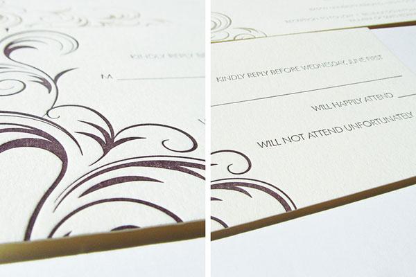 Rococo Wedding Invitations Detail