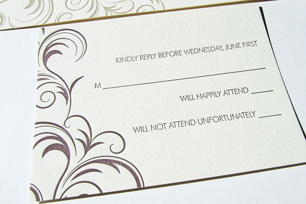 Letterpress Reply Card
