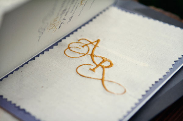 Stitched Monogram Canvas