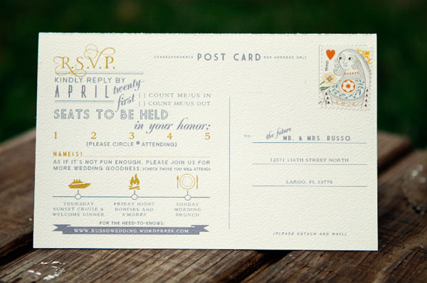 Gray and Yellow RSVP Card