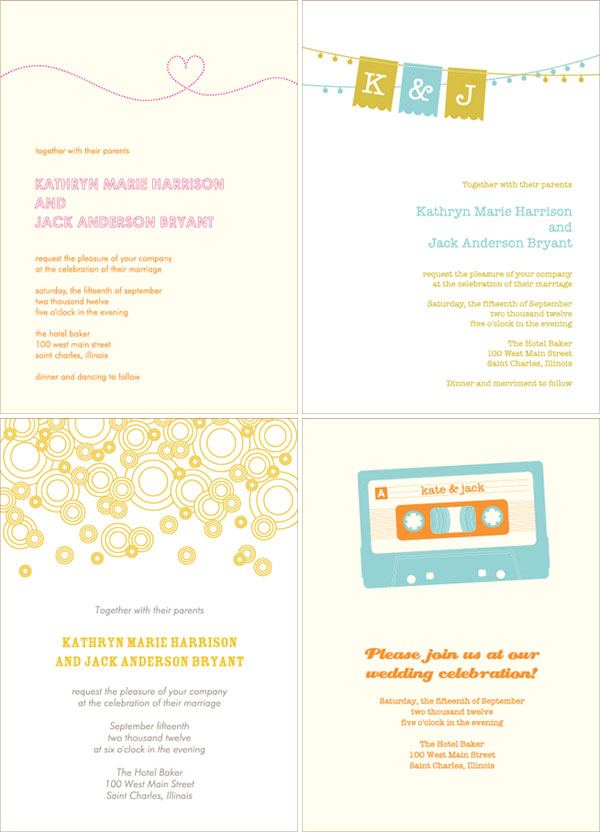 Wedding Invitations by Silhouette Blue