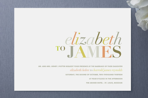 Typography Wedding Invitations : Tonality