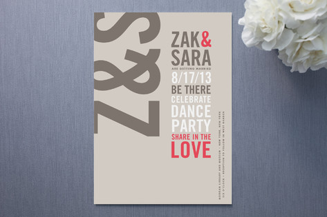 modern typography wedding invitations - Modern Wedding Invites