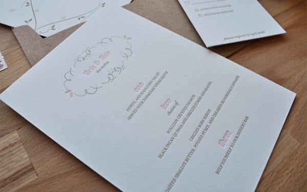 Dear Lola Custom Wedding Invites