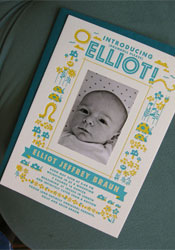 Elliot Letterpress Birth Announcement