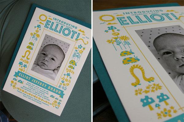 Elliot Custom Birth Announcement