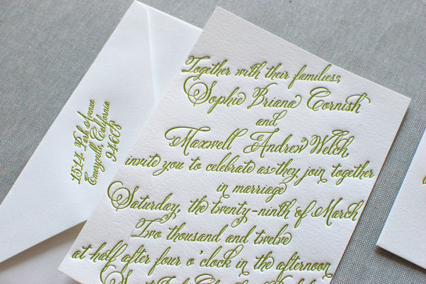 and coordinating pieces feature the luscious script font Belluccia