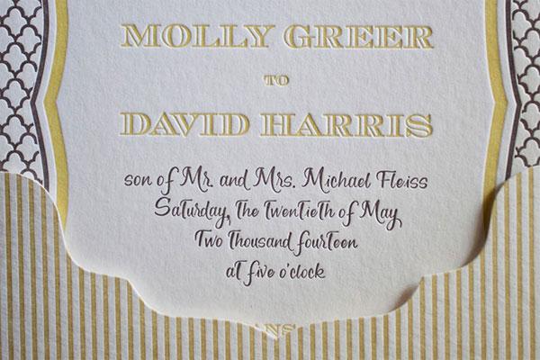 Letterpress Wedding Invitation Smock