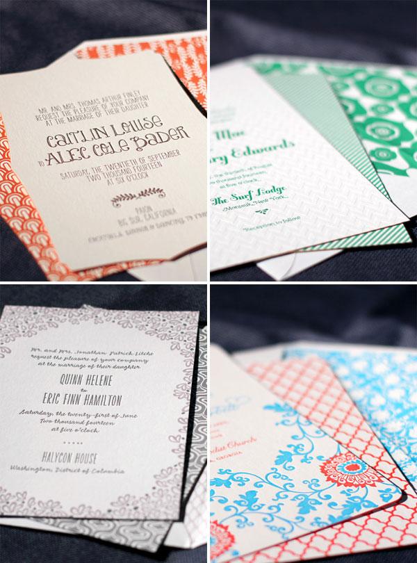 Smock Letterpress Wedding Invitations