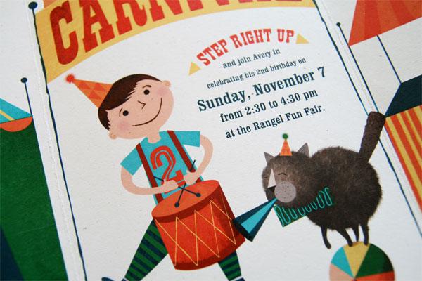 carnival themed 2nd birthday invites invitation crush
