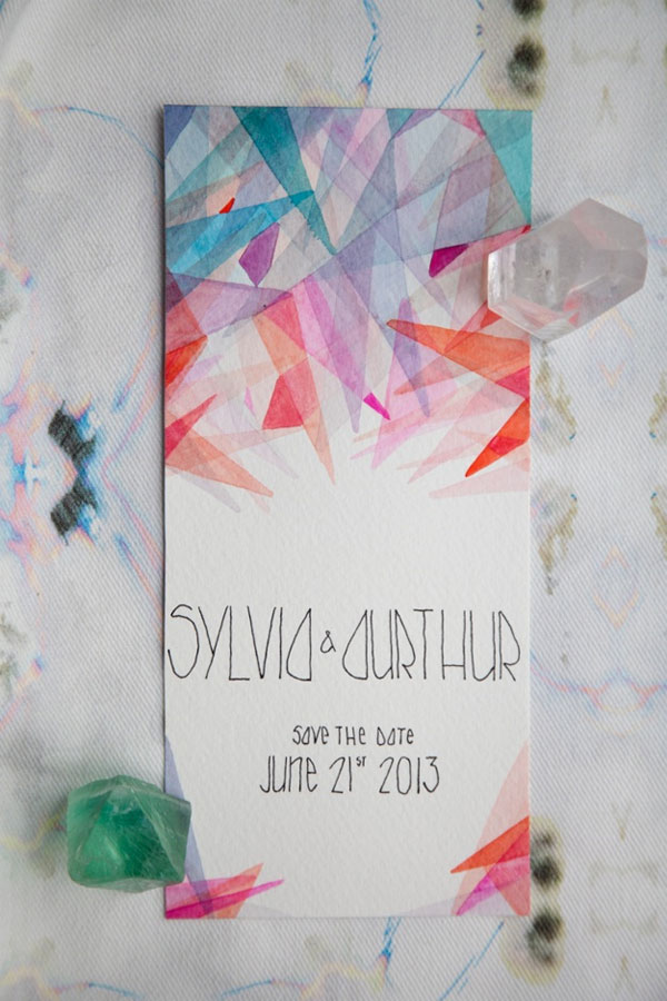 Modern Watercolor Save the Date