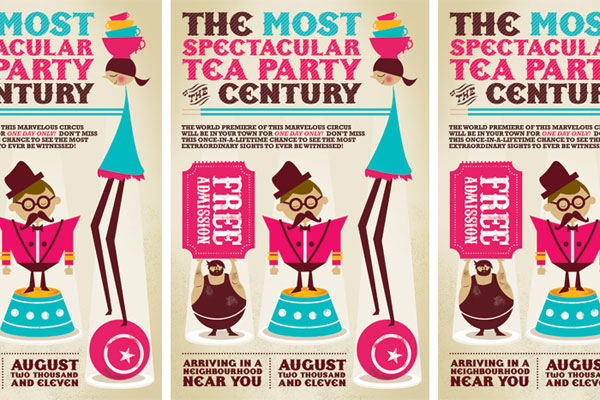 Circus Tea Party Invitations
