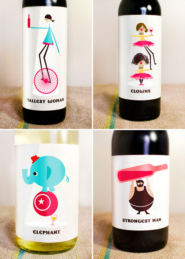 Circus Wine Labels