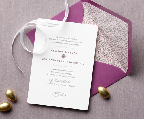Cheap Letterpress Wedding Invitations: Affordable Letterpress Wedding Invitations : Claremont