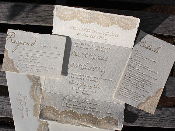 Wedding Invitation Lace: Rustic, Vintage Lace Wedding Invitations