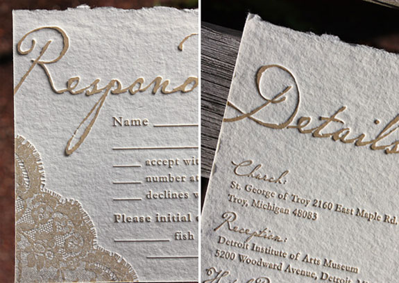 Deckled Edge Wedding Invites
