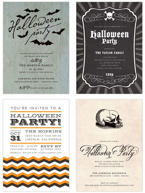 Halloween Party Invites by Brightside Prints - Invitation Crush