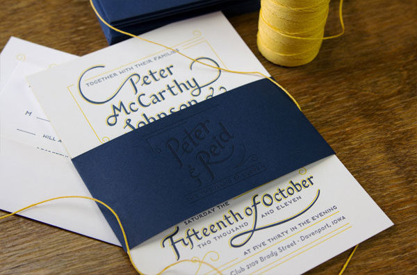 Aqua Blue Wedding Invitations