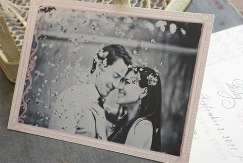 Romantic Photo Save the Dates