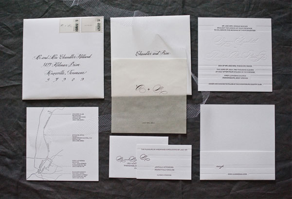 Black White Wedding Invitation Suite