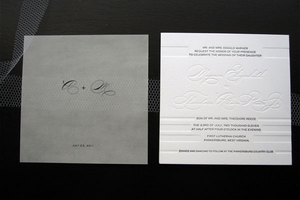 Texture Wedding Invites