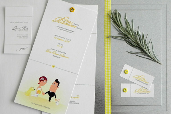 Cute Illustrated Wedding Invites