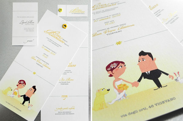 Erica Massimiliano's Wedding Invitations