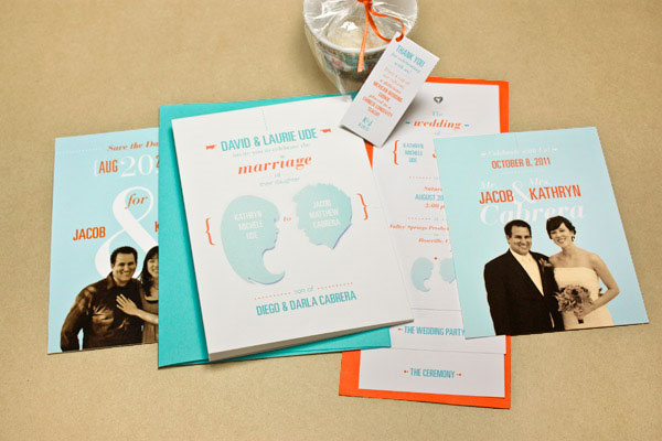 Teal + Orange Wedding Suite